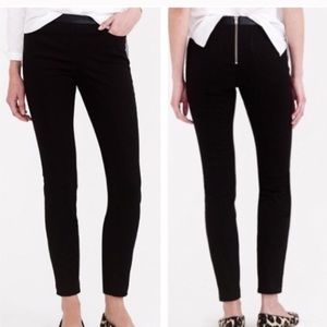 J Crew Dannie leather trim pant black 00